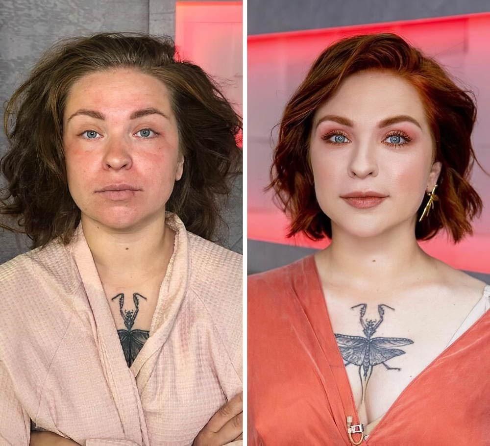 фото женщины до и после брака